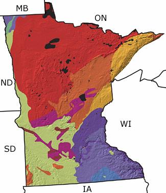 The Paleontology Portal - Minnesota on map of us