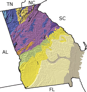 Geologic Map Of Georgia.The Paleontology Portal