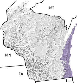 Niagara Escarpment Wisconsin Map.The Paleontology Portal