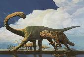 Pleurocoelus and Acrocanthosaurus